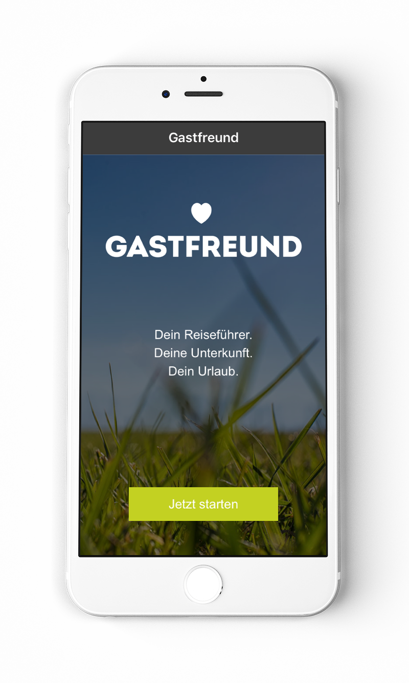 Gastfreund App Screen 1