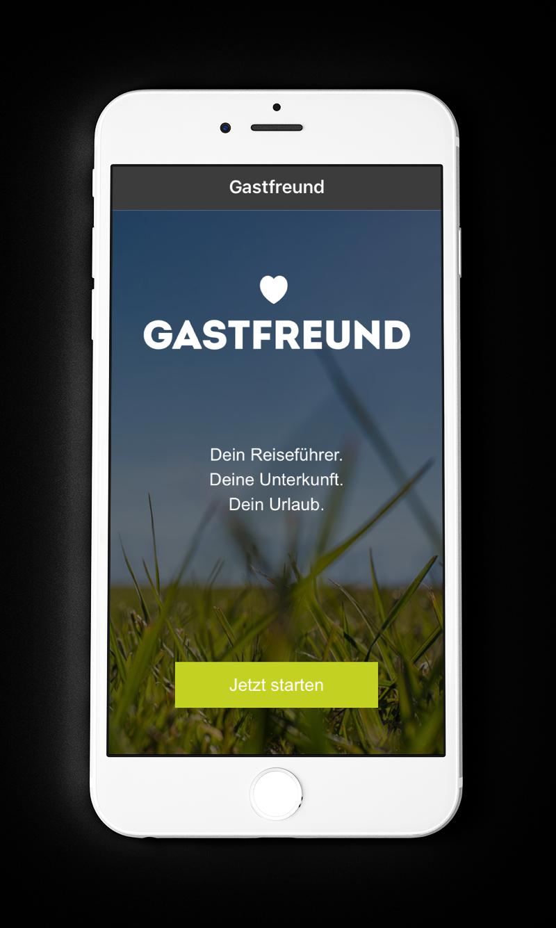 Gastfreund App Screen 1