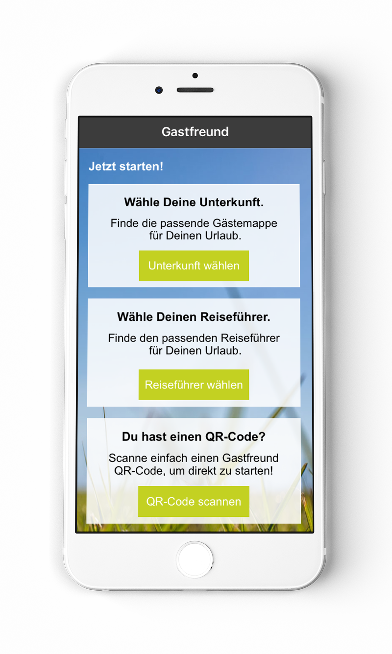 Gastfreund App Screen 2