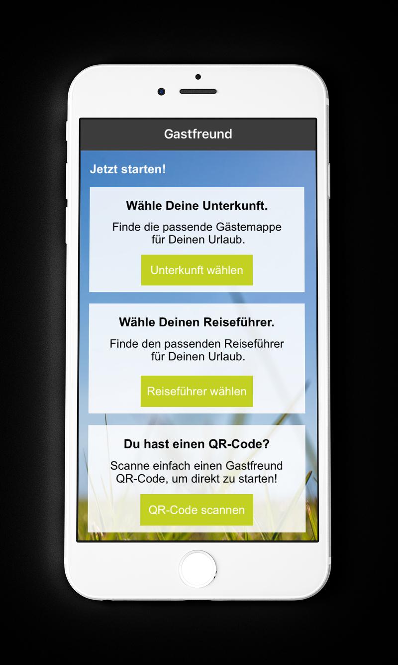 Gastfreund App Screen 2